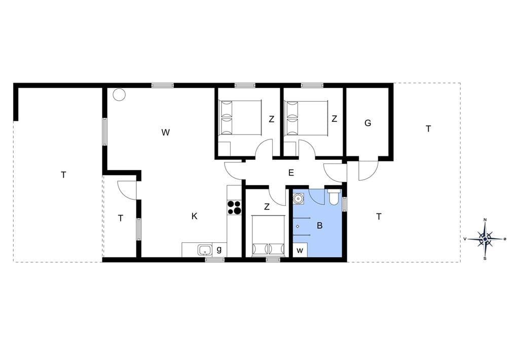 Indretning 1-13 Sommerhus 401, Pighvarvej 33, DK - 7700 Thisted