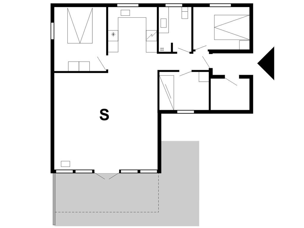 Indretning 1-175 Sommerhus 30070, Kløvervej 478, DK - 6990 Ulfborg