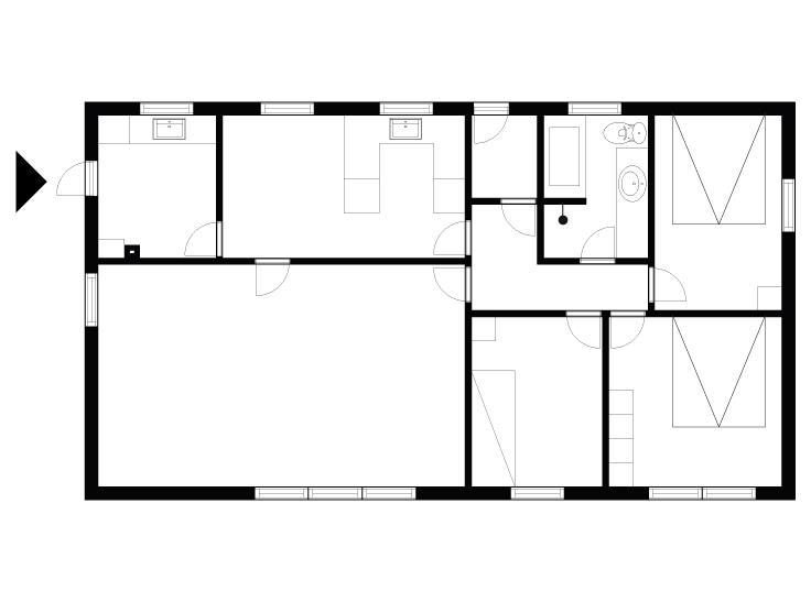 Indretning 1-175 Sommerhus 70287, Tornevej 6, DK - 6990 Ulfborg