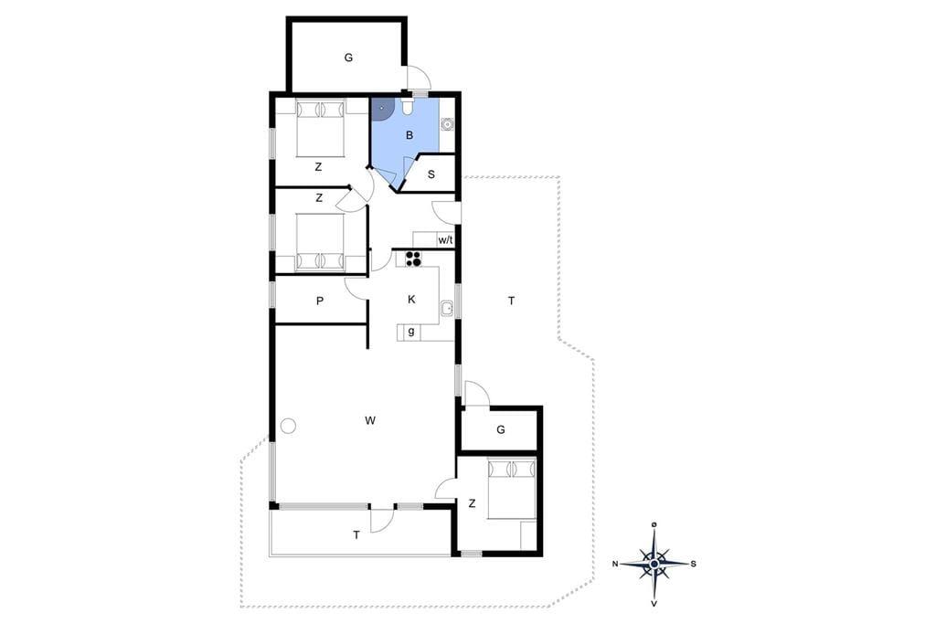 Indretning 1-13 Sommerhus 280, Hannesvej 27, DK - 7770 Vestervig