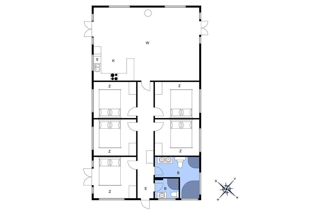 Indretning 1-17 Sommerhus 13369, Gudmindrup Strandvej 88, DK - 4573 Højby