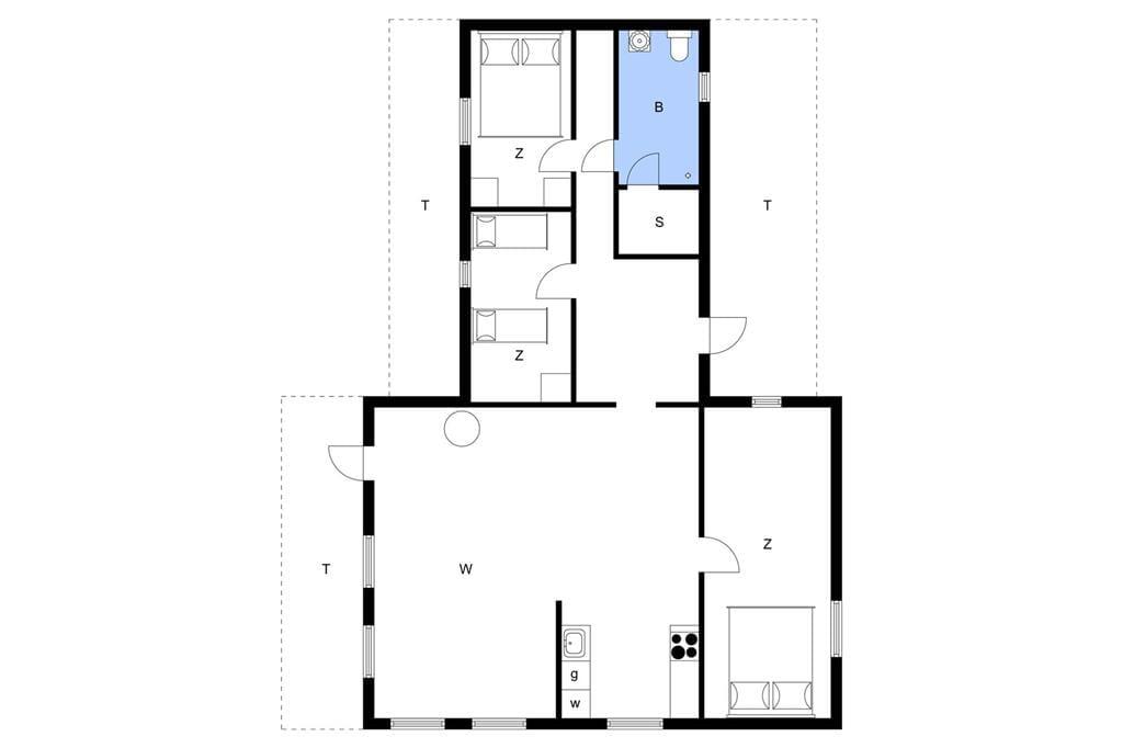 Indretning 1-11 Sommerhus 0362, Skovskaden 17, DK - 6792 Rømø