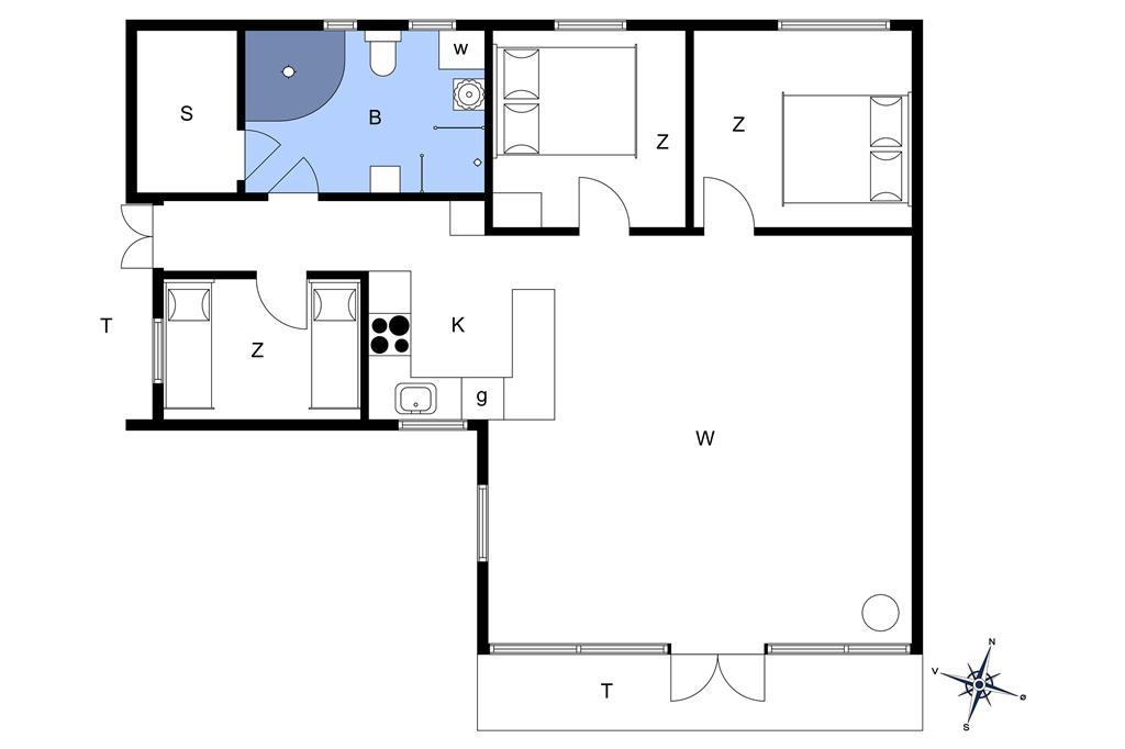Interieur 1-174 Vakantiehuis M16005, Hansavej 10, DK - 4873 Væggerløse