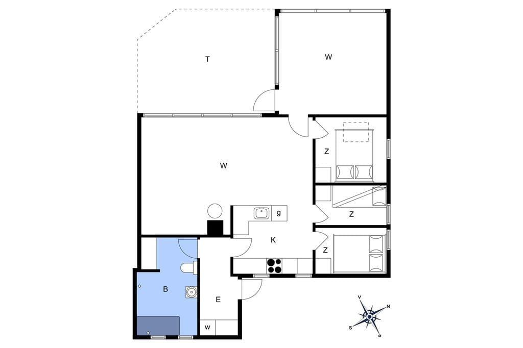 Indretning 1-22 Sommerhus C11027, Husfold 75, DK - 6893 Hemmet