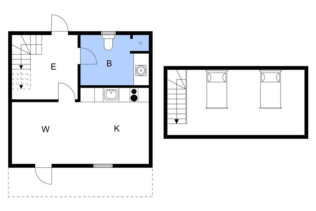Indretning 1-3 Sommerhus L15001, Stavildvej 26, DK - 8832 Skals