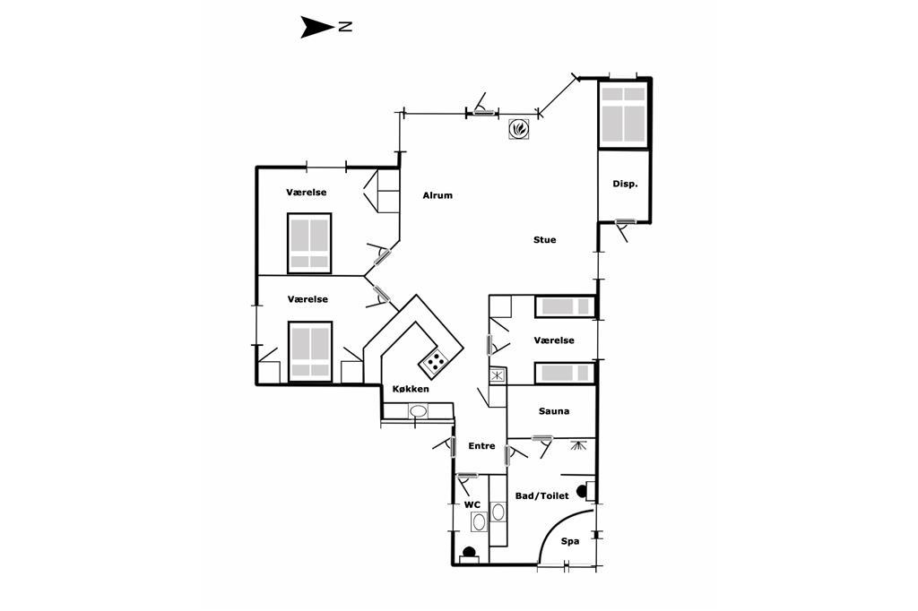 Interieur 1-125 Vakantiehuis 4105, Th. Jensensvej 3, DK - 6854 Henne