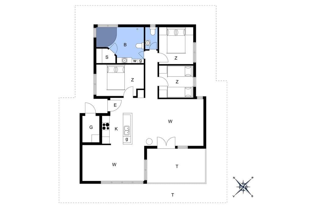 Innenausstattung 1-172 Ferienhaus JB197, Kronvildtvej 240, DK - 9460 Brovst