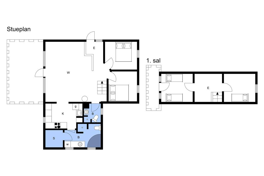 Interieur 1-3 Vakantiehuis M64137, Strandvænget 28, DK - 5400 Bogense