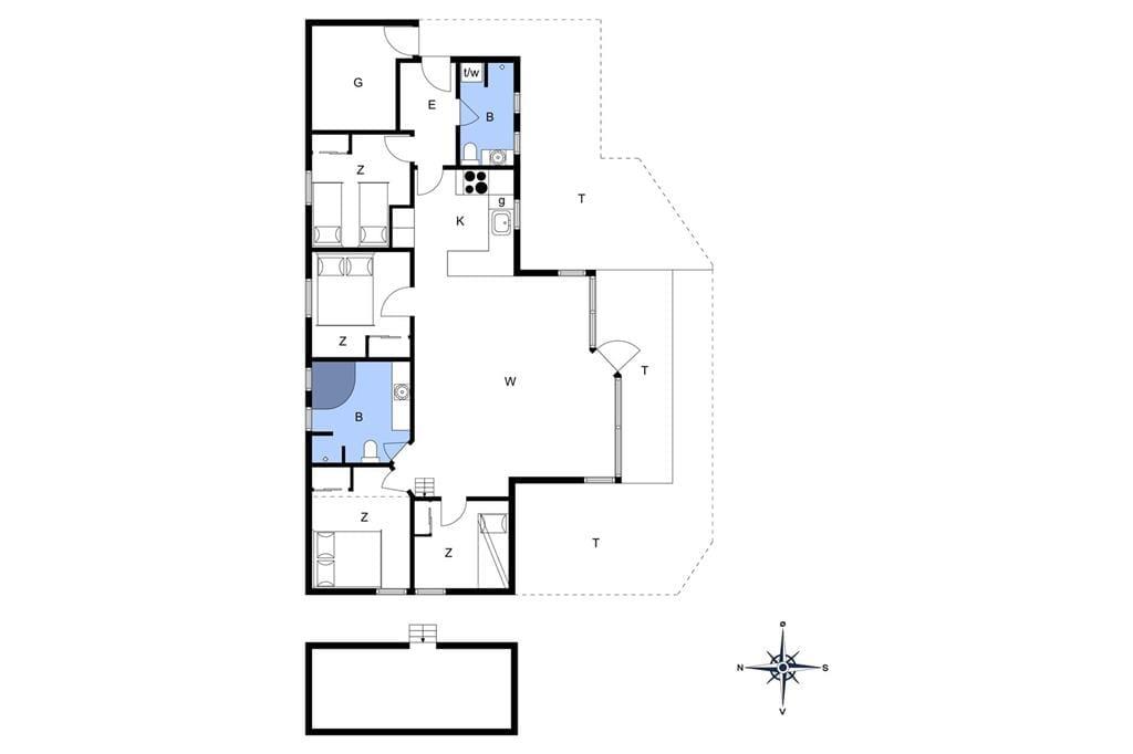 Indretning 1-401 Sommerhus HA252, Torndrupstrand 13, DK - 9370 Hals