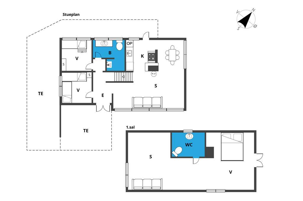 Indretning 1-19 Sommerhus 30556, Strandagervej 17, DK - 8300 Odder