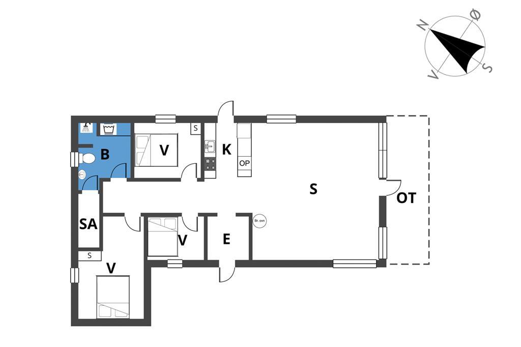 Indretning 1-23 Sommerhus 8807, Østre Klitvej 33, DK - 8585 Glesborg