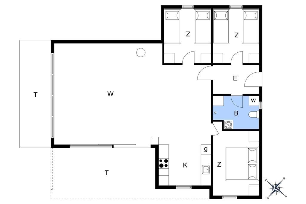Interieur 1-13 Vakantiehuis 724, Kanalvej 24, DK - 7770 Vestervig