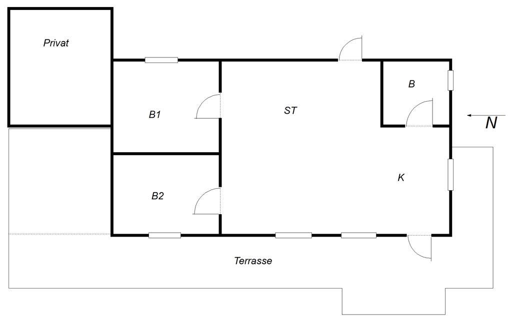 Innredning 1-10 Feirehus 3654, Dunhammervej 10, DK - 3730 Nexø