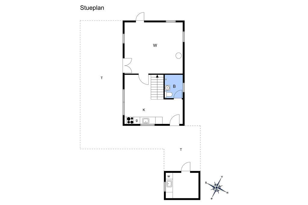 Indretning 1-17 Sommerhus 13393, Karolinevej 21, DK - 4573 Højby