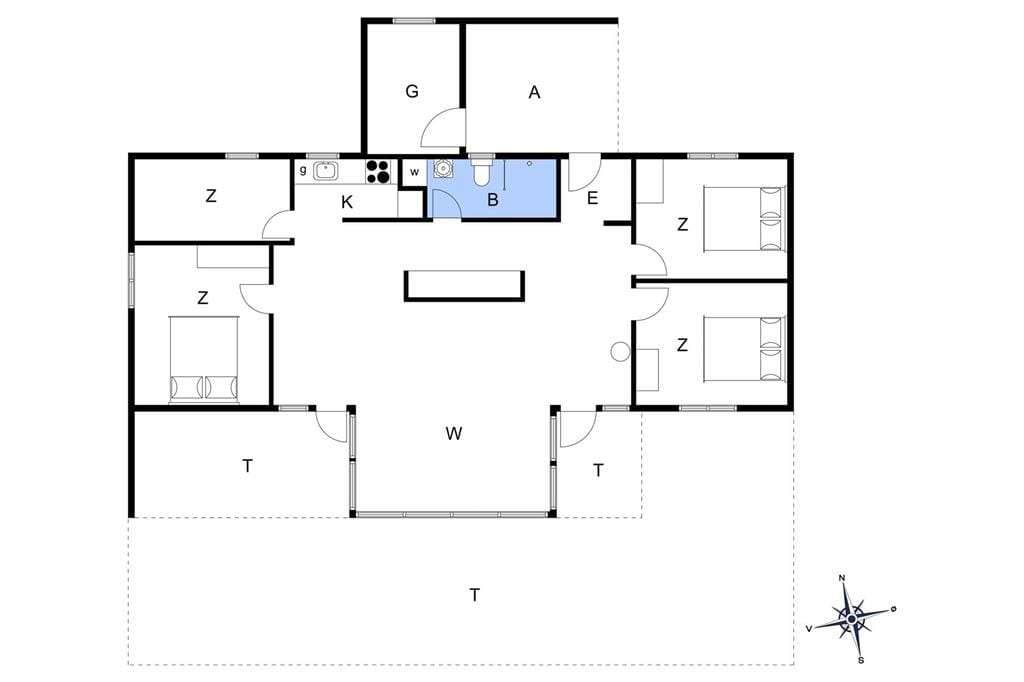Innenausstattung 1-13 Ferienhaus 449, Strandskadevej 11, DK - 7760 Hurup Thy