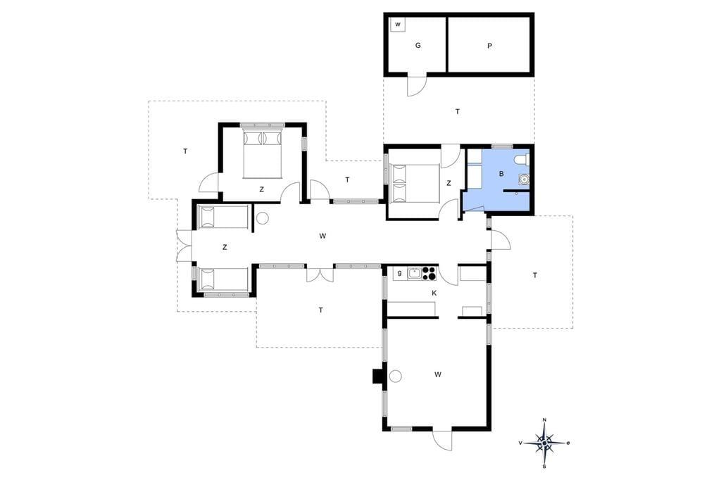 Indretning 1-13 Sommerhus 255, Kræn Knudsens Vej 13, DK - 7700 Thisted