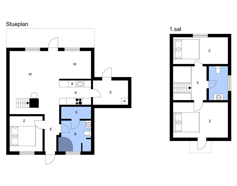 Indretning 1-3 Sommerhus M64357, Strandgårdsvej 207, DK - 5464 Brenderup Fyn