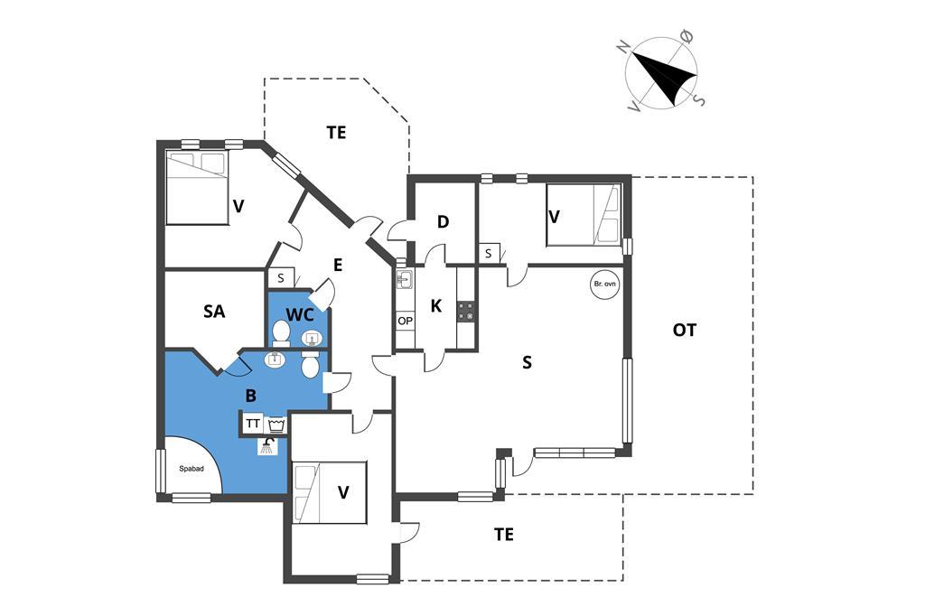 Indretning 1-23 Sommerhus 8490, Bjarkes Grund 29, DK - 8400 Ebeltoft