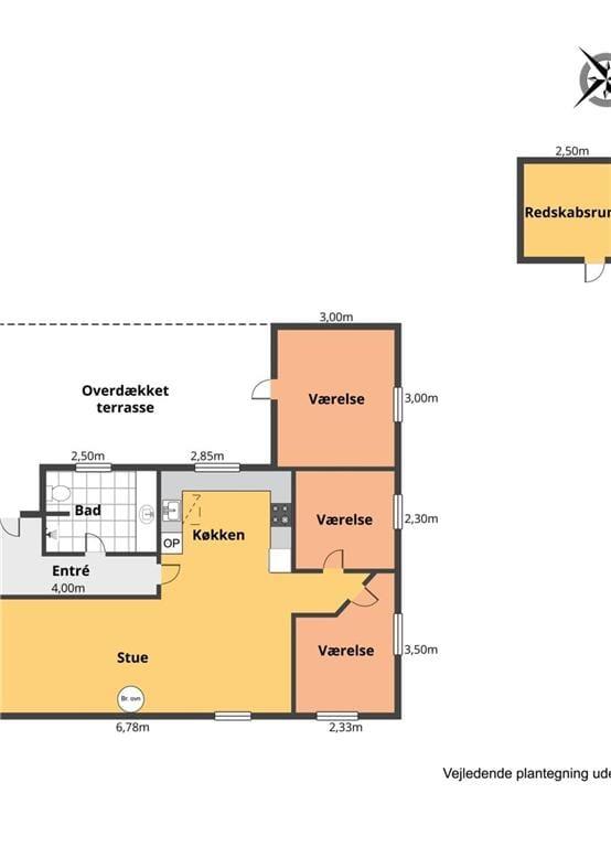Indretning 1-401 Sommerhus HA257, Torndalsvej 9, DK - 9370 Hals