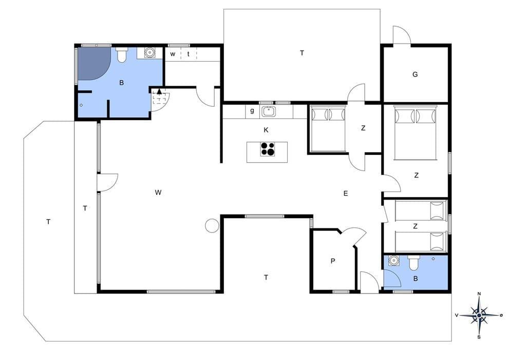 Indretning 1-178 Sommerhus LN75708, Jollevej 4, DK - 9800 Hjørring
