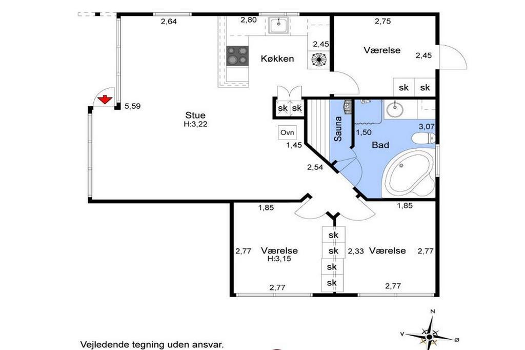 Indretning 1-26 Sommerhus SL117, Egebækvej 6, DK - 4200 Slagelse