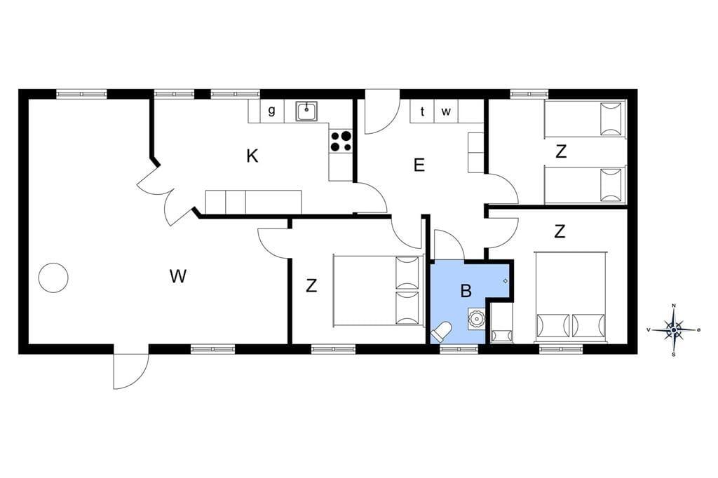 Indretning 1-3 Sommerhus F503895, Lille Mommarksvej 43, DK - 6470 Sydals