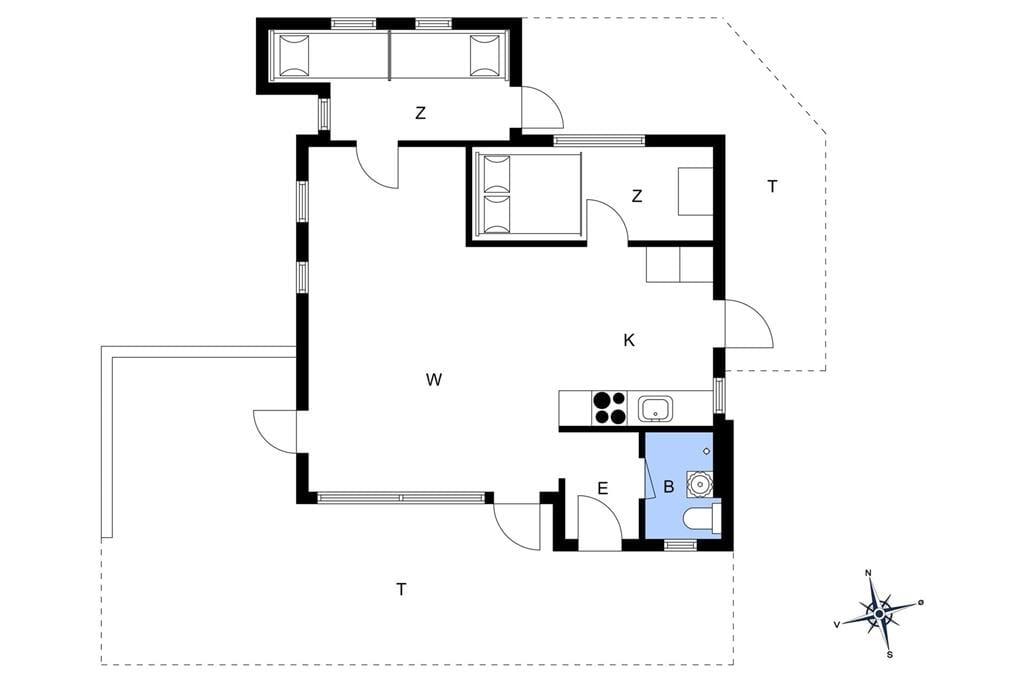 Indretning 1-401 Sommerhus HA260, Lyngtoften 13, DK - 9370 Hals