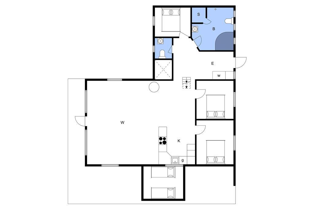 Indretning 1-3 Sommerhus M64372, Sneppevej 4, DK - 5464 Brenderup Fyn