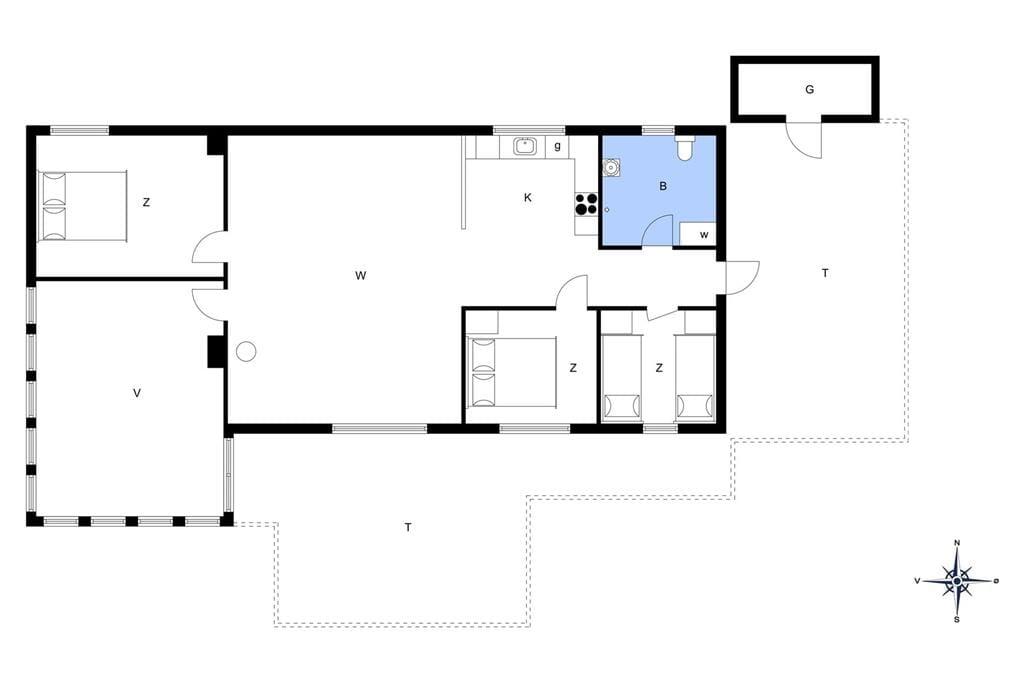 Indretning 1-13 Sommerhus 685, Pighvarvej 28, DK - 7700 Thisted