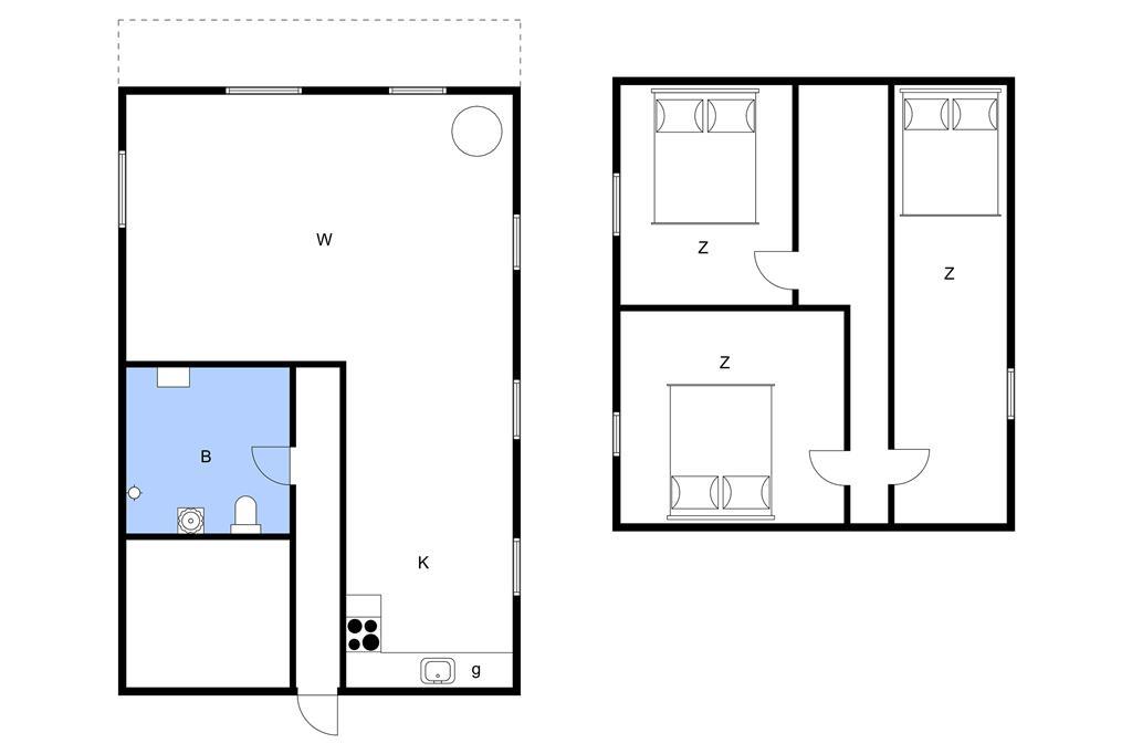 Innenausstattung 1-11 Ferienhaus 0505, Byvej 22, DK - 6261 Bredebro