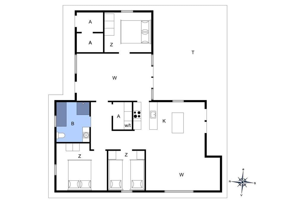 Interieur 1-4 Vakantiehuis 227, Havklitvej 73, DK - 6950 Ringkøbing