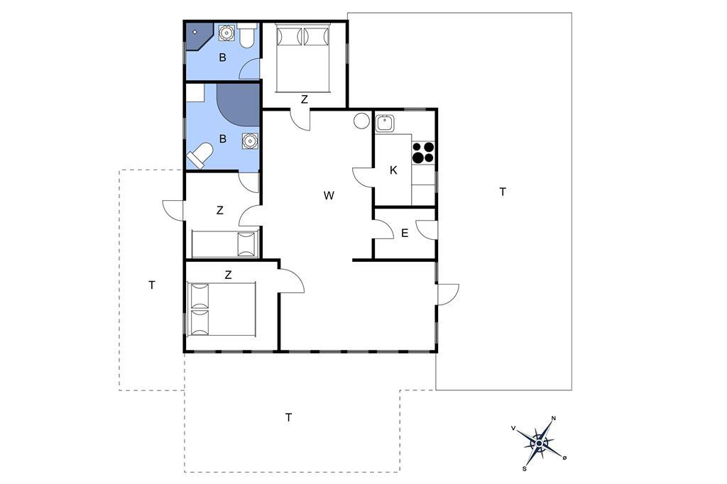 Indretning 1-10 Sommerhus 3602, Turistvej 45, DK - 3730 Nexø