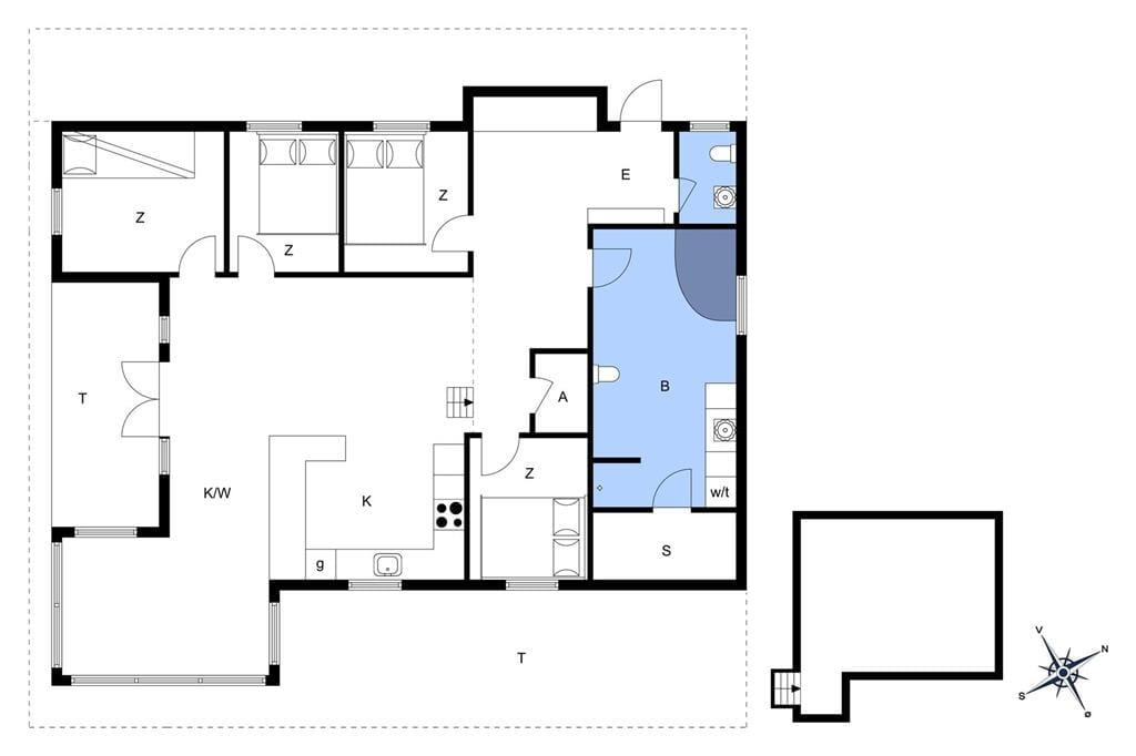 Innredning 1-174 Feirehus M12024, Marielyst Strandpark 38, DK - 4873 Væggerløse