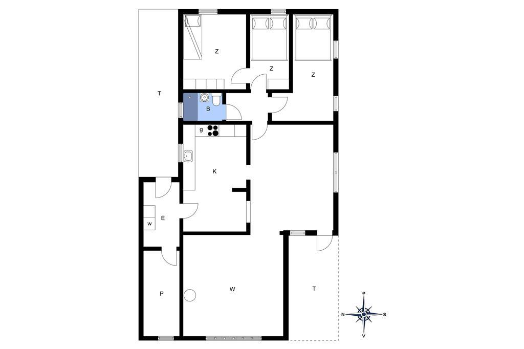 Indretning 1-14 Sommerhus 1135, Brombærvej 4, DK - 9492 Blokhus