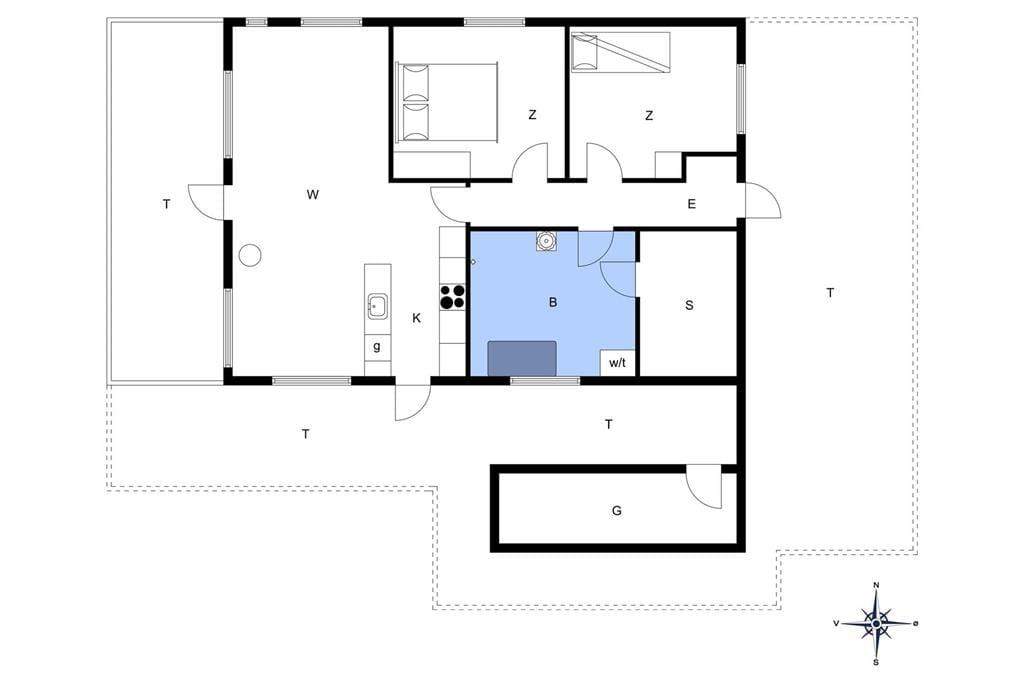 Indretning 1-13 Sommerhus 516, Hannesvej 31, DK - 7770 Vestervig