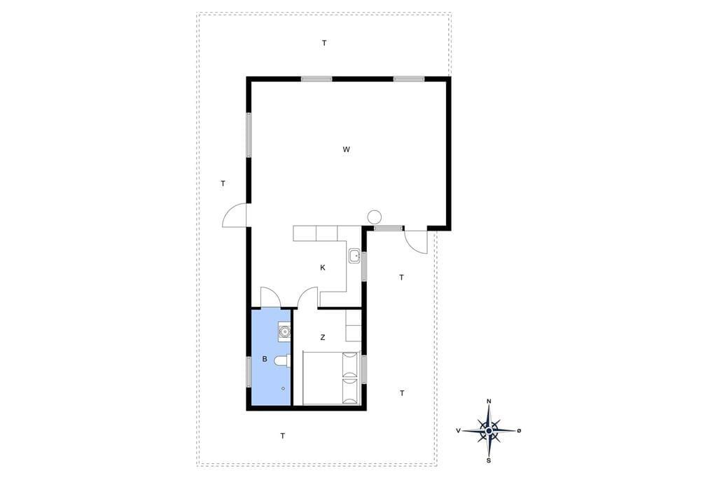 Indretning 1-14 Sommerhus 947, Søren Petersvej 13, DK - 9492 Blokhus