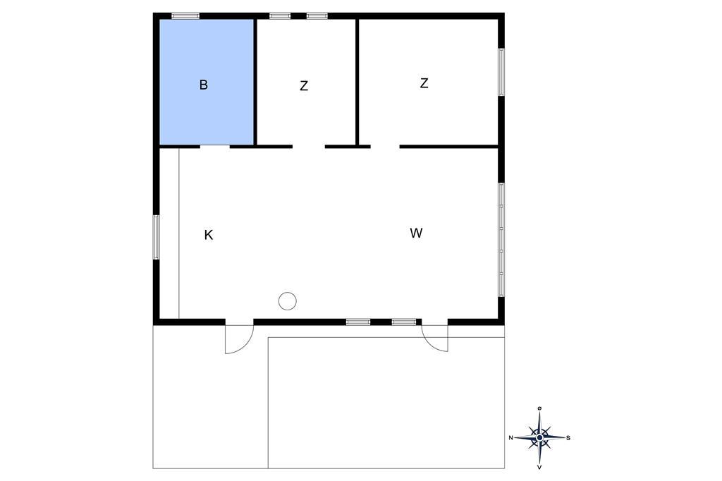 Indretning 1-10 Sommerhus 1555, Ædjavejen 14, DK - 3720 Aakirkeby