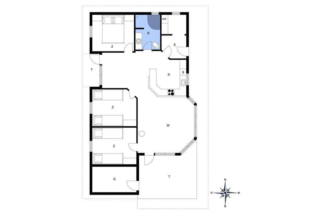 Innenausstattung 1-13 Ferienhaus 626, Kongens Borer 4, DK - 7752 Snedsted