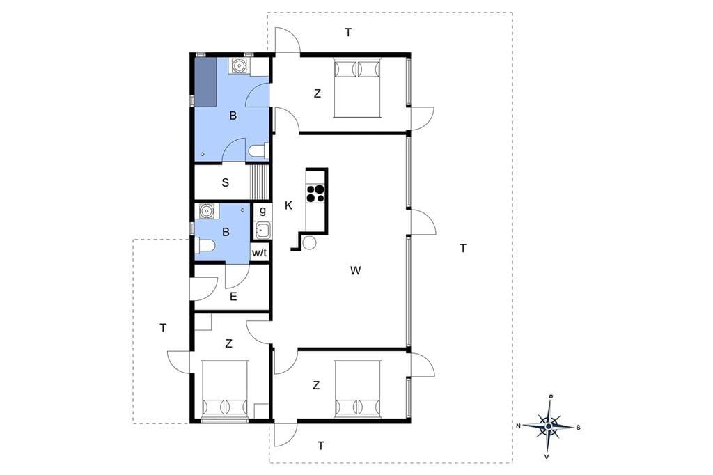 Innenausstattung 1-172 Ferienhaus JB1230, Kronvildtvej 15, DK - 9460 Brovst