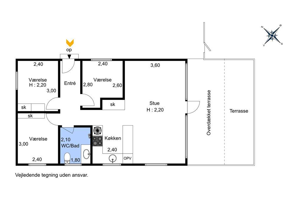 Indretning 1-174 Sommerhus M20001, Urhanevej 1, DK - 4874 Gedser