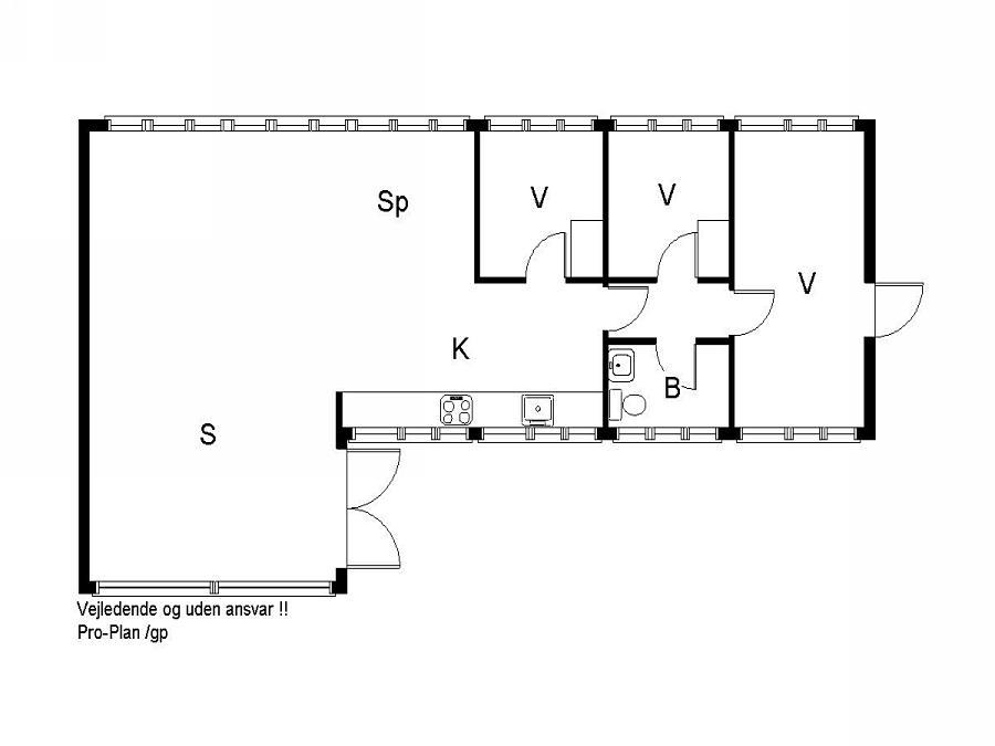 Indretning 1-19 Sommerhus 30448, Posmosevej 21, DK - 8300 Odder