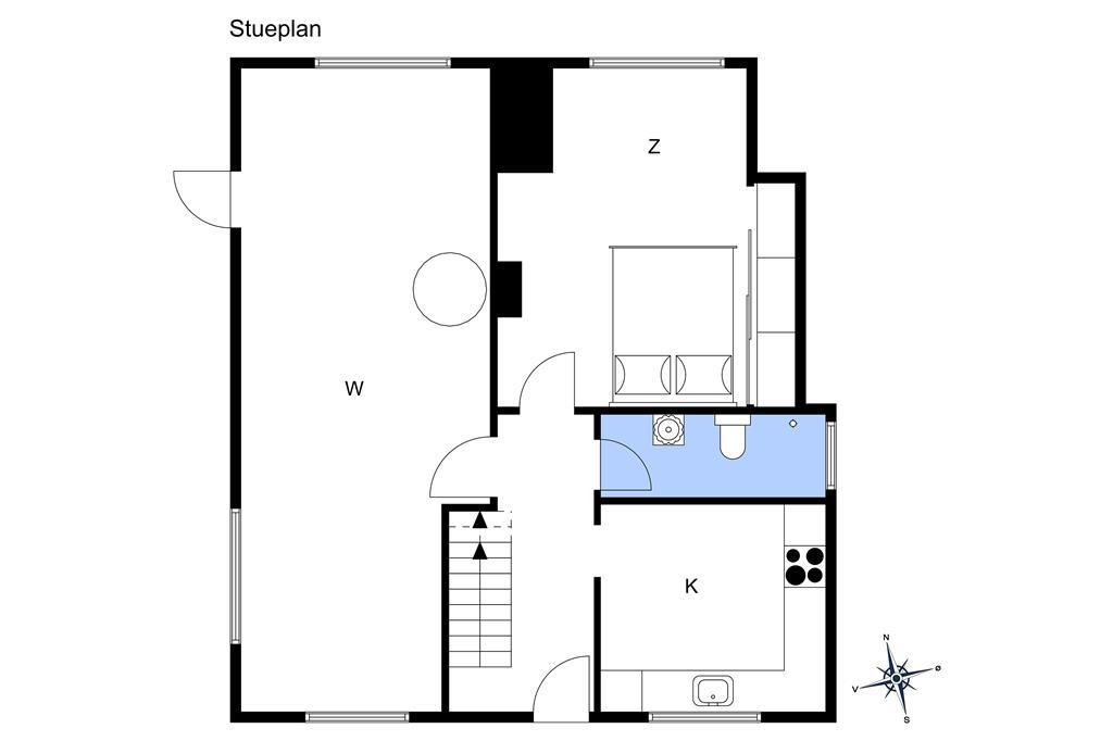 Indretning 1-10 Sommerhus 6764, Sdr. Strandvej 37, DK - 3770 Allinge