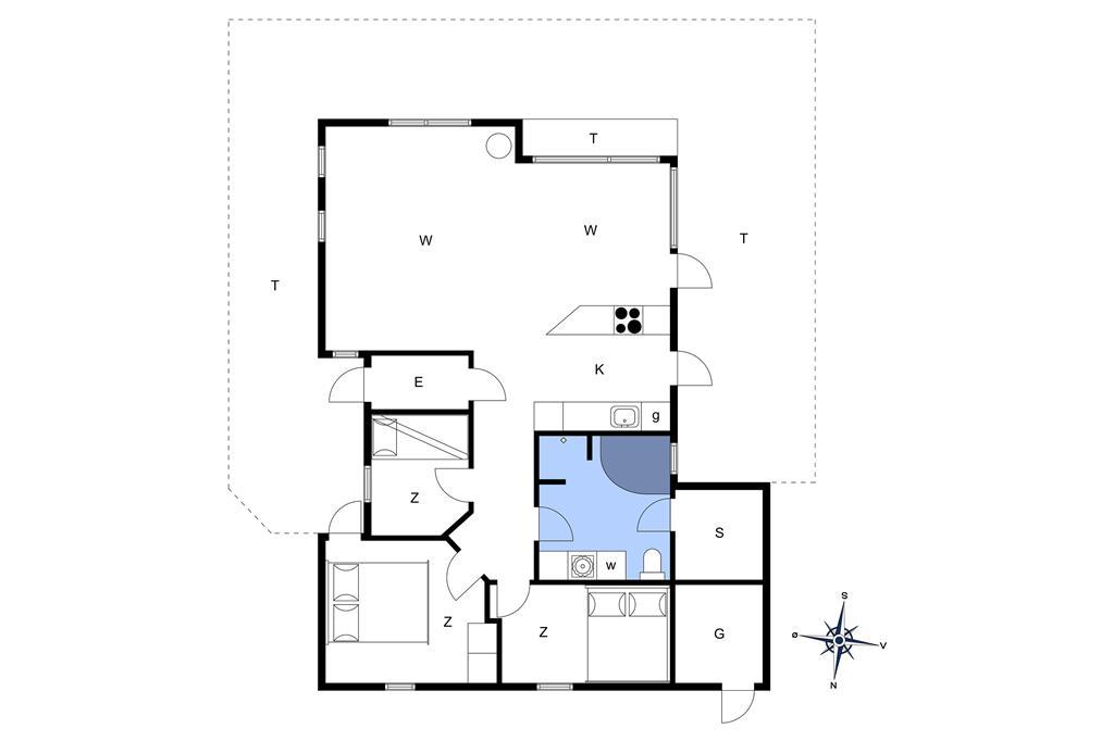Indretning 1-14 Sommerhus 76101, Klittornvej 9, DK - 9800 Hjørring
