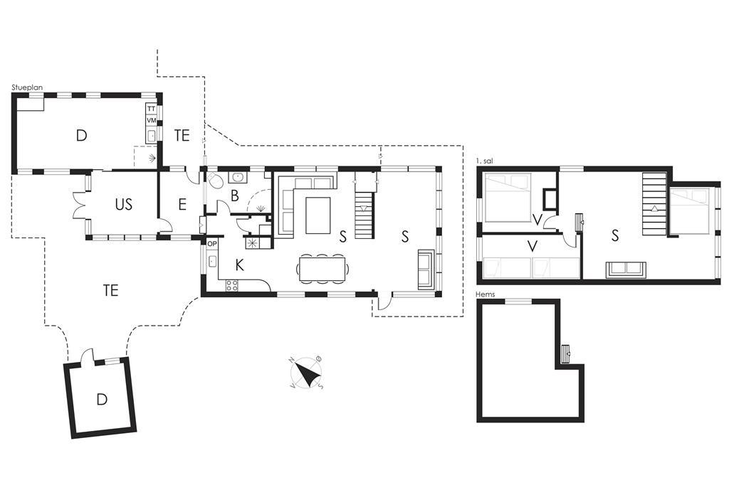 Indretning 1-19 Sommerhus 30587, Tværagervej 11, DK - 8300 Odder