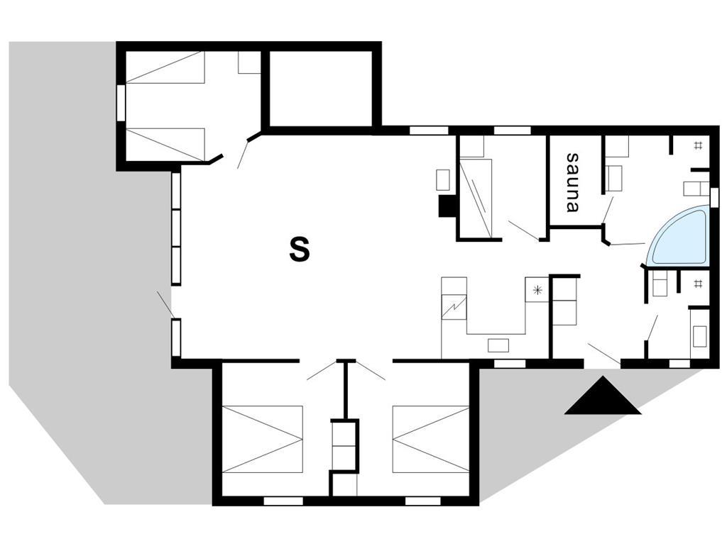 Indretning 1-175 Sommerhus 40810, Hagevej 116, DK - 6990 Ulfborg