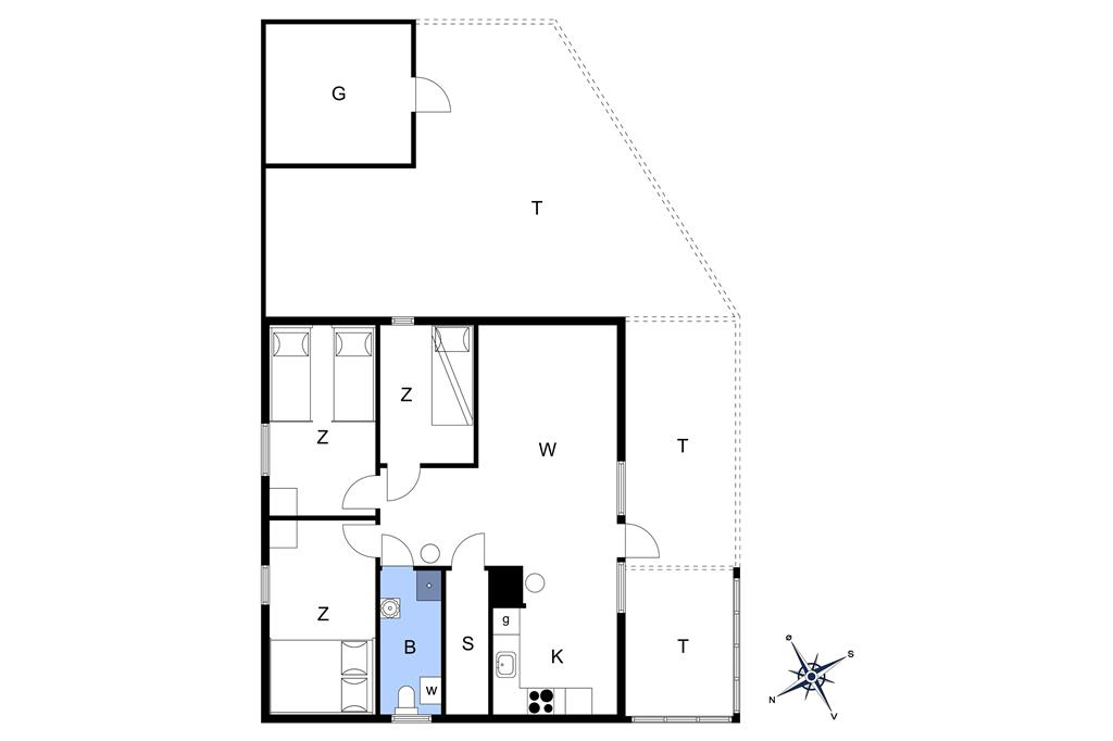 Indretning 1-13 Sommerhus 834, Revlingvej 9, DK - 7700 Thisted