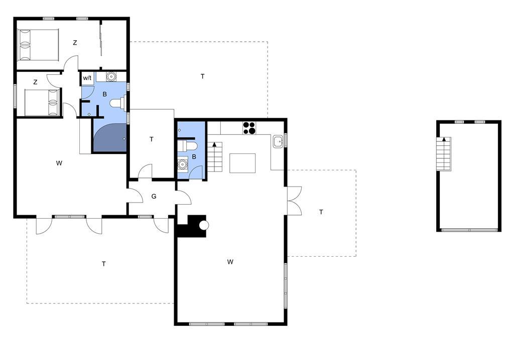 Indretning 1-14 Sommerhus 76396, Draget 7, DK - 9800 Hjørring