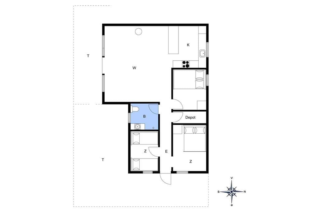 Interior 1-4 Holiday-home 521, Sommervej 62, DK - 6960 Hvide Sande