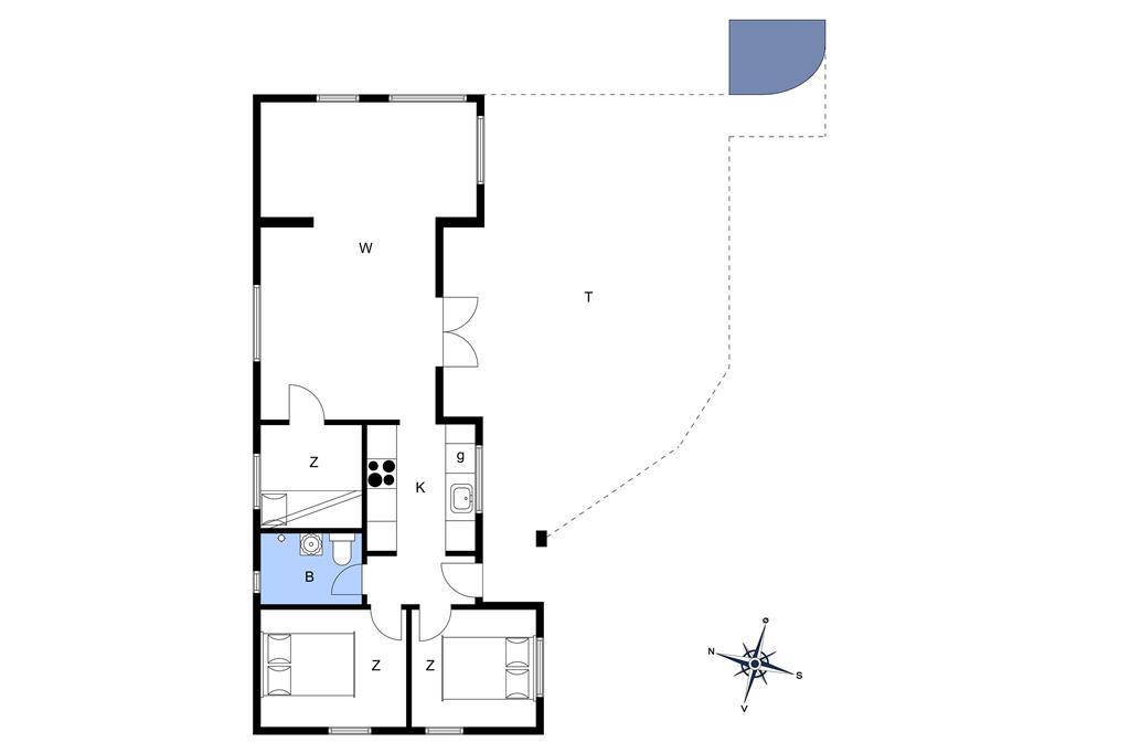 Indretning 1-15 Sommerhus 7301, A. Johnsonsvej 34, DK - 4793 Bogø By