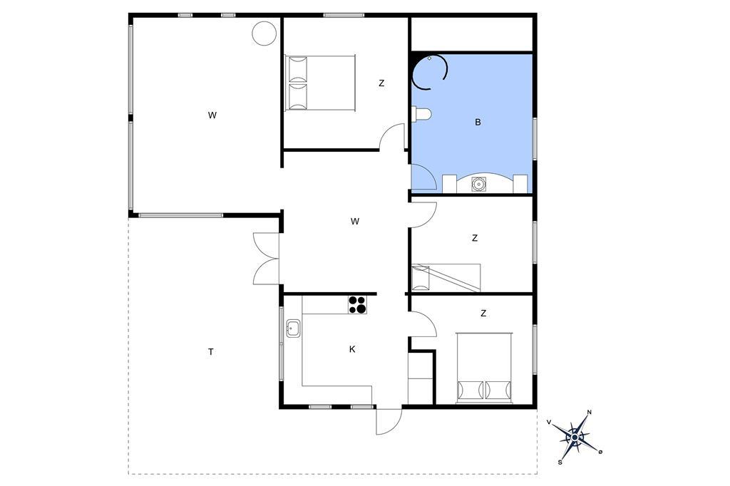 Indretning 1-26 Sommerhus K19107, Fruergårdsvej 3, DK - 4592 Sejerø